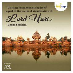 Get the blessings of Shri Krishna. Spend 7 days every year in #Vrindavan. #KrishnaBhumiHolydays #LandOfKrishna
