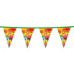 Un precioso banderín para decorar tu fiesta tropical, de www.fiestafacil.com - €1,95 / A lovely pennant banner to decorate your tropical party, from www.fiestafacil.com