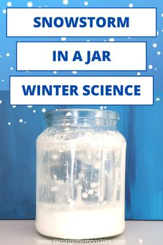 Learn how to make a snowstorm in a jar - science activity for kids. Preschoolers and Kindergartners will love this winter STEM activity. Perfect for winter or weather themed lessons. #science #stem #winter #weather #preschool #kindergarten Educational Activities For Toddlers, Winter Activities For Kids, Hands On Activities, Stem Activities, Kids Learning, Preschool Science, Science For Kids, Preschool Kindergarten, Stars And Solar System