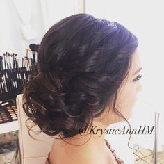 Beautiful Beachy Updo! Hair: www.krystieann.com Venue: Huracan Cafe Punta Cana Beach Wedding hair, bridal hair, wedding updo, bridal updo, brunette updo, wedding hair, wedding hairstyles, romantic upd