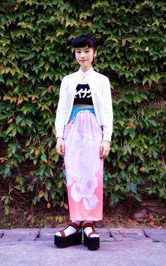 魔女ムノン Asian Street Style, Japanese Street Fashion, Korean Fashion, Harajuku Fashion, Kawaii Fashion, Gothic Lolita, Alternative Fashion, Lace Skirt, Street Wear