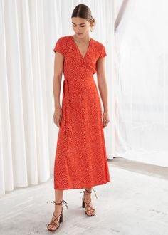2982aa454bf 10 Best Red wrap dress images
