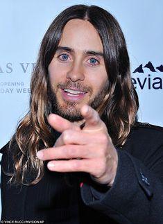 Jared leto has really blue eyes