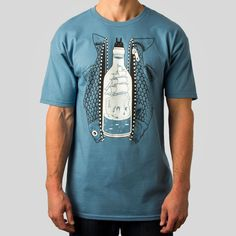 superfishal - Bottled Up T-Shirt by Jeremy Fish