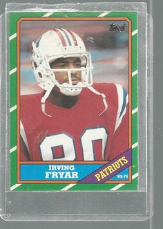 Irving Fryar New England Patriots Topps 1985 Football Trading Card   #NewEnglandPatriots