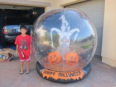 Halloween gemmy airblown inflatable whirlwind globe ghost pumpkin bats