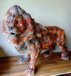 "Saatchi Art Artist Mateo Kos; Sculpture, ""LION"" #art"