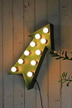 Arrow Fairground Light - suitable for a table lamp, wall light or stand alone Floor Light