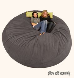 Large Bean Bag Chair - 8 ft Sack Micro Suede Charcoal..I need this