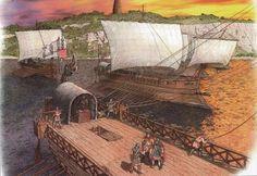 roman naval patrol leaving dover (dubris ) Ancient Rome, Ancient History, Fall Of Constantinople, 1 Century, Roman Clothes, Roman Legion, Roman Britain, Roman Republic, Roman Era