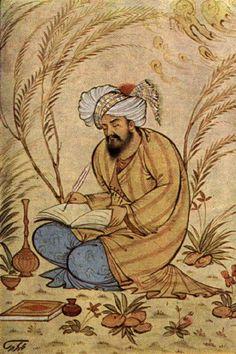 Muslim Writer - possible depiction of Persian Poet Omar Khayyam.