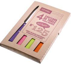 Opinel Bon Appetit Esprit Pop set of 4 Colored Table knives