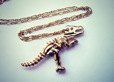 "Try these bones on for size. | 19 Incredible Dinosaur Necklaces Every ""Jurassic Park"" Fan Needs"