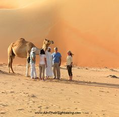 Always and forever, Desert safari in Abu Dhabi is the best activity to do. In picture we can say family of desert conquers while they are stopping for camel ride. Join our Abu Dhabi desert safari now: http://www.abudhabisightseeing.com/package/abu-dhabi-desert-safari/