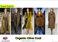 Organic Olive Coat #Fashion Trend for Fall Winter 2014 #FW2014 #Fall2014Trends
