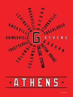 Athens (SEC Conference) Georgia Dawgs
