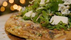Frittata van zoete aardappel en dooierzwammen   Dagelijkse kost Frittata, Omelet, Go For It, Salmon Burgers, Foodies, Veggies, Pizza, Broccoli, Ethnic Recipes