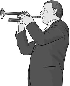 monochrome images / piccolo-trumpet