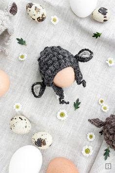 Schaf als Eierwärmer häkeln OsterDIY