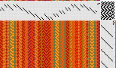 Rosepath Tie up - twill treading and an undulating twill threading - #weaving #twill #rosepath http://4.bp.blogspot.com/-j7WN4mzndSg/UShh2G78LGI/AAAAAAAAG7s/V6S2mMJF-Rs/s1600/Scarf%25232.jpg