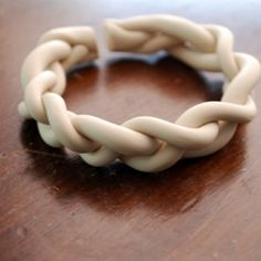 Easy Braided Cuff Made Of Air Dry Clay