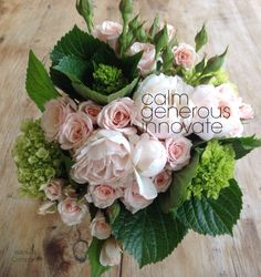 Willow & Company / Joanna Jadrijevich. A small bouquet made with love - peonies, hydrangeas and roses.