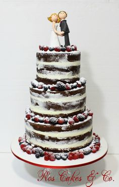 Chocolate Naked Cake by Ros Cakes & Co.