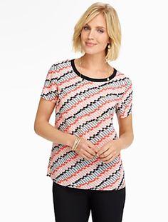 Talbots - Diagonal Chevron Stripe Blouse | Blouses and Shirts |