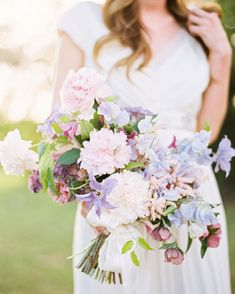 See some of our favorite, unique spring wedding ideas using spring wedding colors and spring wedding flowers. Spring Wedding Flowers, Purple Wedding, Floral Wedding, Wedding Day, Carnation Wedding, Winter Flowers, Blue Bridal, Wedding Blog, Summer Wedding