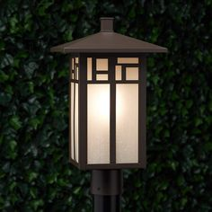 Ornamental embellishments give the Weaver Outdoor Lantern a unique look. The post-style build features seeded glass that casts soft and effective lighting around your walkway. Designed for outdoor use, the Weaver will be a lasting addition to your home en Outdoor Lamp Post Lights, Outdoor Lamp Posts, Outdoor Hanging Lanterns, Patio Lighting, Exterior Lighting, Street Lamp Post, Pillar Lights, Traditional Lanterns, Lantern Designs