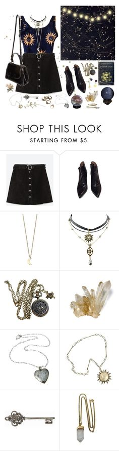 """la luna"" by lilyyjey ❤ liked on Polyvore featuring Zara, Alaïa, Fendi, Minor Obsessions, Bergdorf Goodman, Graham & Brown, Lacey Ryan and vintage"