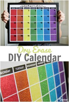 Kick your organization skills into high gear with this DIY dry erase calendar made of paint swatches.