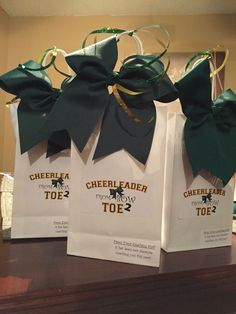 End of the year cheer gifts Cheer Gift Bags, Cheer Coach Gifts, Cheer Coaches, Cheer Stunts, Cheer Gifts, Camp Gifts, Softball Gifts, Basketball Gifts, Cheer Bows