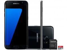 a5679b3ee51 Smartphone Samsung Galaxy S7 Edge 32GB Preto 4G - Câm. 12MP + Selfie 5MP  Tela 5.5