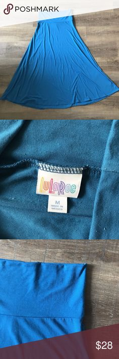 LuLaRoe Blue Maxi Skirt Super comfortable maxi skirt! A must have for any closet. In good condition with minor signs of pilling. LuLaRoe Skirts Maxi