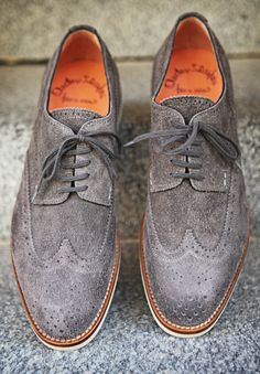 Suede summer brogues by Santoni