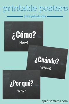 Free interrogative posters for the Spanish classroom!