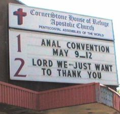 Funny Church Signs.