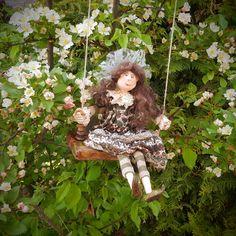 Fairy Doll - Angel Doll - Art Doll - Fantasy Doll - Porcelain Doll - Artistic Doll  - Fairy - Doll - Fantasy - Angel - Fine Art Doll - by Rustiikkitupa on Etsy