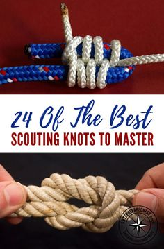 24 Of The Greatest Scouting Knots To Grasp - There's a giant number of knots, eac.... Find out more by checking out the image