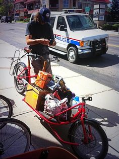Just a normal load for Doug. #yycbike #beer Embedded image permalink