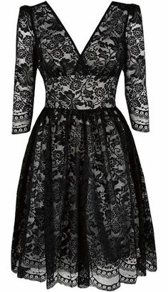 vintage black lace dress - I love this dress! Put some pearls with it and you are first class!