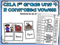 R-Controlled Vowels Match Activity CKLA 1st Grade Skills Unit 4This activity is great for stations and workshops. The specific R-Controlled Vowel spelling patterns in this activity come from the CKLA 1st Grade Skills Unit 4. Vowel Digraphs: er, ar, and or.Includes 50 different R-Controlled Vowel words and pictures to use as a matching activity.Includes 5 different cut and paste worksheet pages to reinforce R-Controlled Vowels.