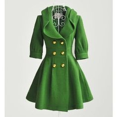 luxury green dresses | 2011 New Lady women's luxury green wool coat,outerwear,jacket+Free Shi ...