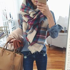 Big scarf kinda day. Tested this one out since the stock pic is blurry - a little staticky but warm & soft in-person @liketoknow.it www.liketk.it/StkE @accessoryconcierge