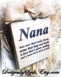 Nana Sign  Wood Block  Mimi Gigi Nana Mama App by DesignsBySyds