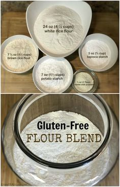 My favorite Homemade Gluten-Free Flour Blend This all-purpose Homemade Gluten-Free Flour Blend is my favorite gluten-free flour to go to on daily basis. It's works well in many recipes. Gluten Free Bread Brands, Gluten Free Flour Mix, Gluten Free Cooking, Vegan Gluten Free, Gluten Free Recipes, Dairy Free, Gluten Free Bread Flour Recipe, Tapioca Flour Recipes, Gf Recipes