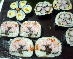 Cherry blossam kawaii sushi roll