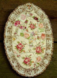 mosaic platter-broken and put back together