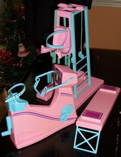 80s Barbie Gym Equipment
